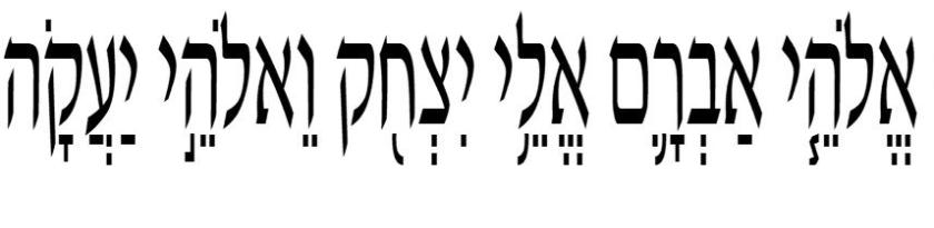 El Dios de Abraham, el Dios de Isaac y el Dios de Jacob